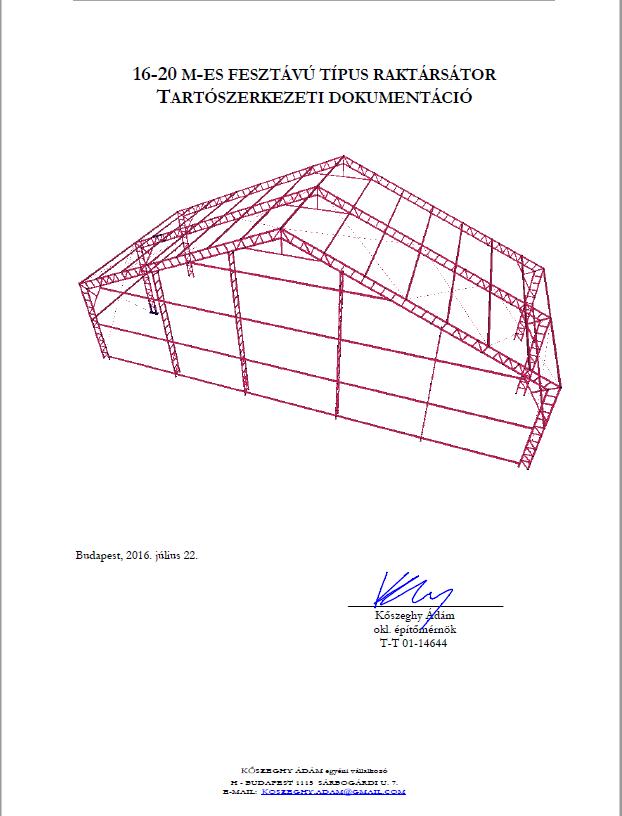 GG sátor statikai dokumentáció (példa)